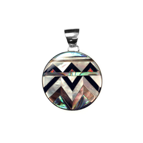 Aztec collection inlay pendant by Kelly Charveaux