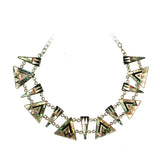 Aztec inlay  necklace by Kelly Charveaux