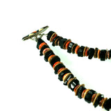 black tourmaline necklace with inlay toggle by Kelly Charveaux