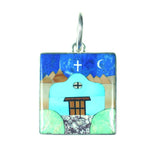 Inlay Spanish mission pendant by Kelly Charveaux