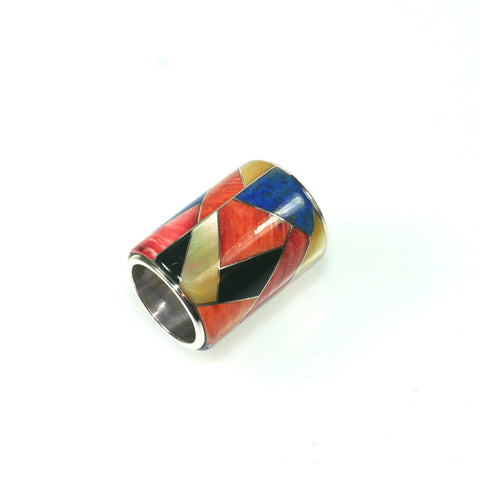 Inlay slide pendant by Kelly Charveaux