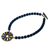 Lapis Necklace With Inlay Pendant