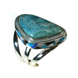 Larimar inlay cuff by Kelly Charveaux