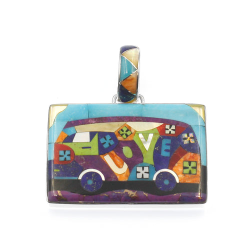 Inlay Love Bus Pendant by Charveaux