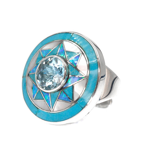 Blue Topaz Ring by Kelly Charveaux