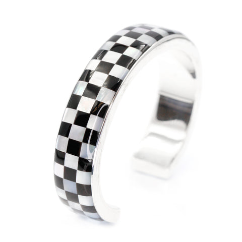 Checkerboard Inlay cuff bracelet