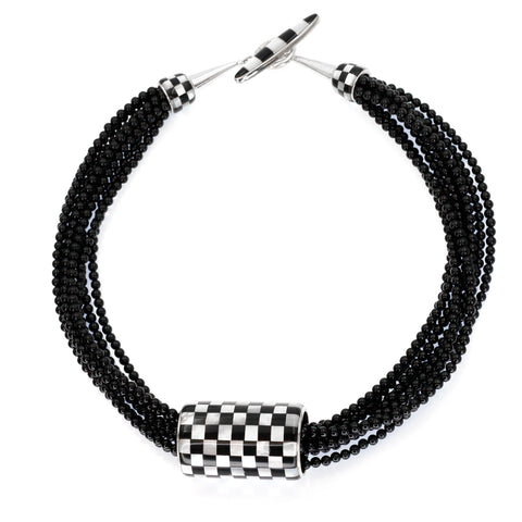 Checkerboard Necklace By  Kelly Charveaux