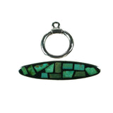 Turquoise inlay toggle clasp by Kelly Charveaux