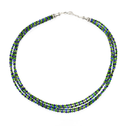 Lapis And Chrome Diopside Necklace