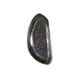 Purple titanium druzy ring by Charveaux