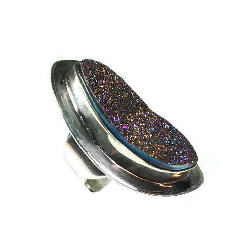 Purple druzy ring by Kelly Charveaux
