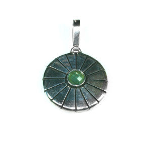 Silver Pendant With Tourmaline