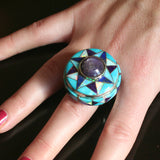 star ruby ring with inlay by designer Kelly Charveaux