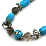 Turquoise & Abalone Inlay Bead Necklace
