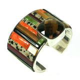 Citrine cuff bracelet with inlay stones by Kelly Charveaux