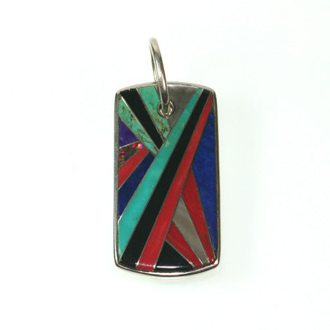 Cosmopolitan inlay pendant by Kelly Charveaux