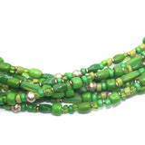 (neck001) Green Trade Bead Necklace