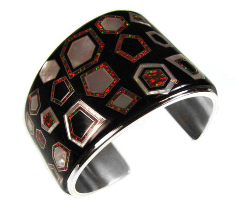 Inlay cuff bracelet by Kelly Charveaux