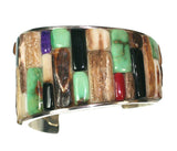 Fossil ivory inlay bracelet by inlay artist Kelly Charveaux