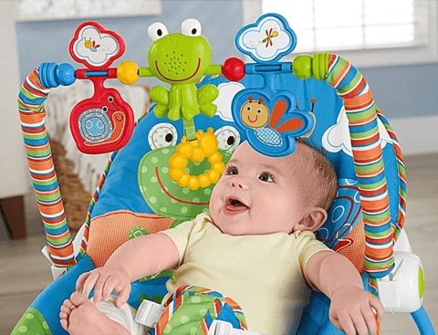 newborn-to-toddler-2-in-1-portable-infant-baby-rocker-bouncer-toddler-chair-seat-blue-frog-reclining-seat-feeding-chair-bed-musical-toys-toy-bar-music-vibration