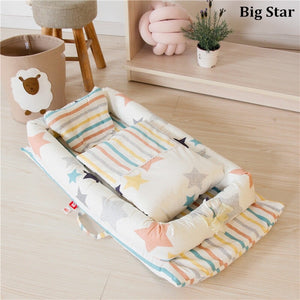 Portable Baby Nest Bed - baby-needs-infant-products-toddler-babies-stuff-baby-items-bottle-feeder-hipseat-carrier-toy-toys-elephant-rocker-bouncer-electric-nail-trimmer-baby-mama-care-breastfeeding-pregnancy-pregnant-newborn