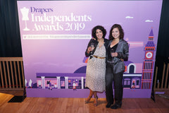 Dea Kudibal stretch silk trouser suit worn by Kat from Damsel at the Drapers Indepedents Awards