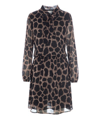 Kudibal giraffe print silk dress is available from Damsel in Chiswick