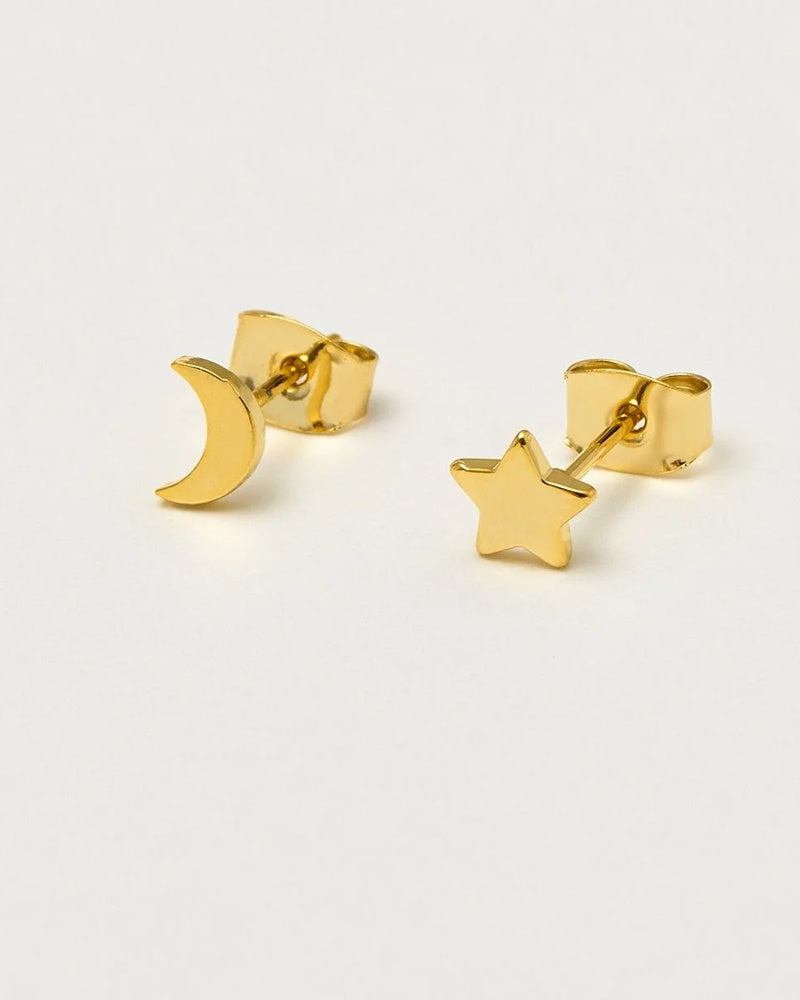 Estella Bartlett mixed moon and star earrings are available to buy online from Damsel in Chiswick