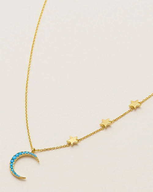 Estella Bartlett blue moon necklace is available to buy online from Damsel in Chiswick