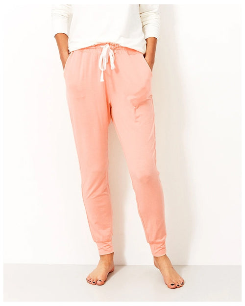 Stripe and Stare Lounge Pants - Mango Sorbet