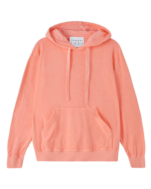 Jumper 1234 neon orange hoodie is available to buy online from Damsel in Chiswick