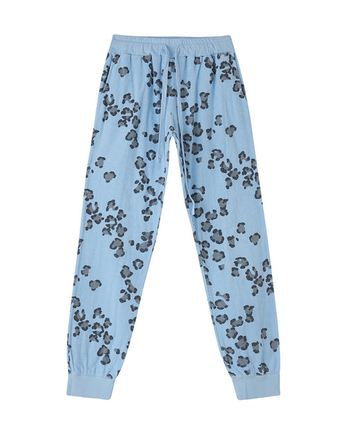 Jumper 1234 leopard print joggers are available to buy online from Damsel in Chiswick