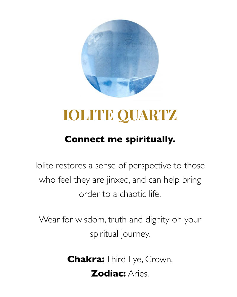 SVP iolite meaning card from Damsel in Chiswick