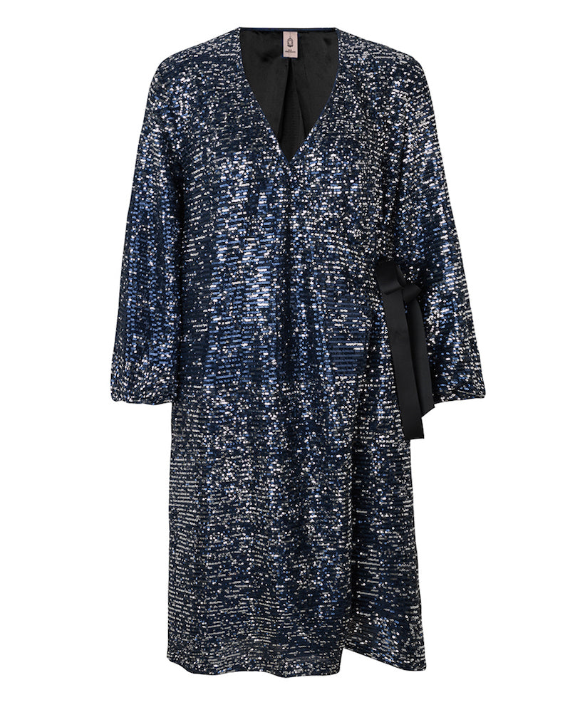 Becksondergaard sequin wrap dress from Damsel in Chiswick