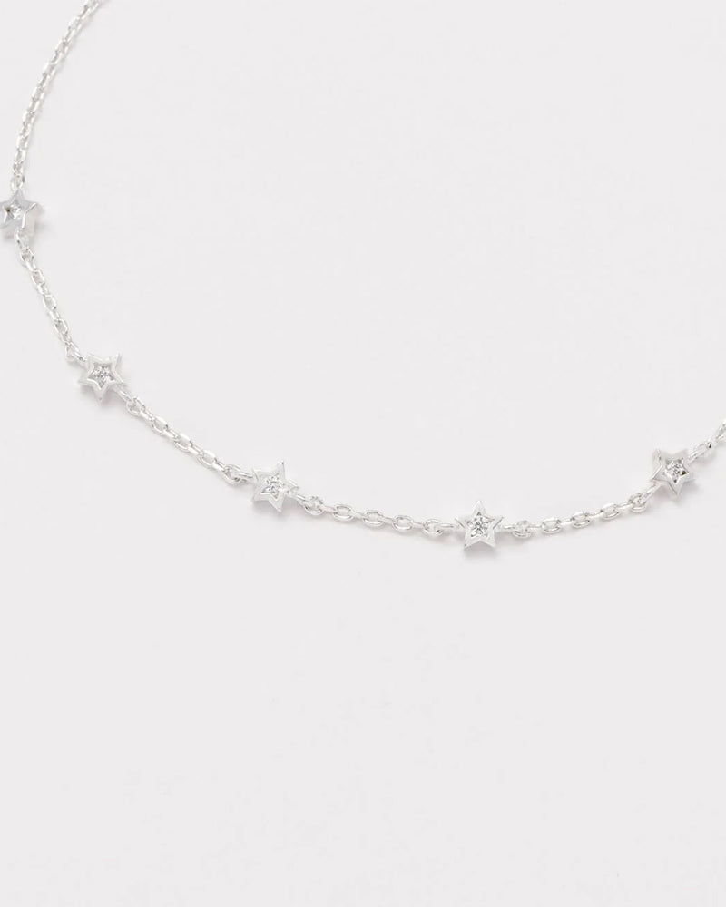 Estella Bartlett small silver star bracelet is available to buy online from Damsel in Chiswick