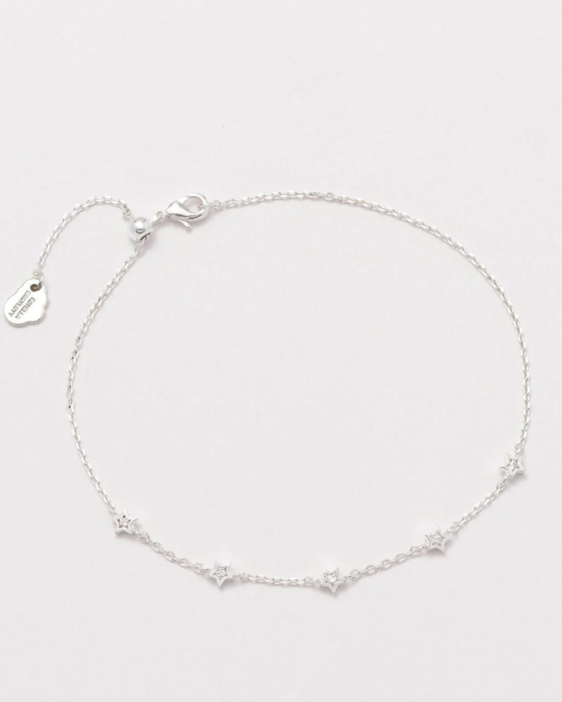 Estella Bartlett silver star bracelet is available to buy online from Damsel in Chiswick