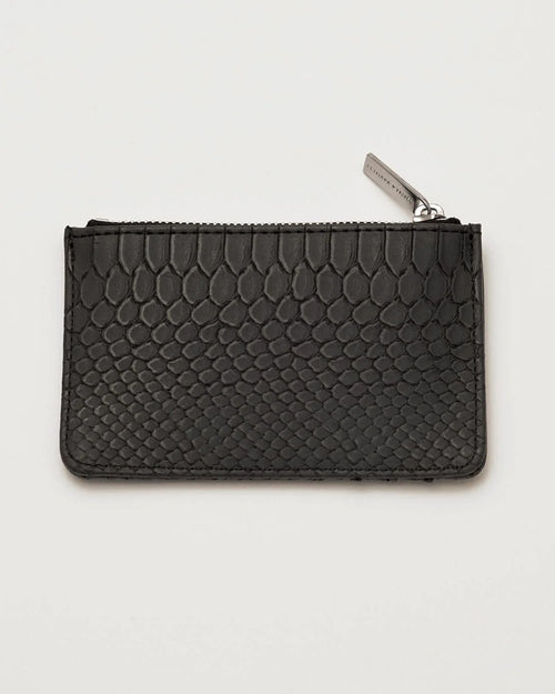 Estella Bartlett black snake card purse is available to buy online from Damsel in Chiswick