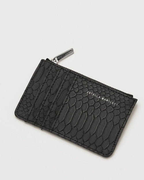 Estella Bartlett snake effect card purse is available to buy online from Damsel in Chiswick