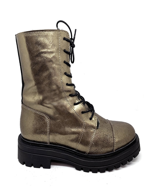 Esska yorky boots in gold are available to buy online from Damsel in Chiswick