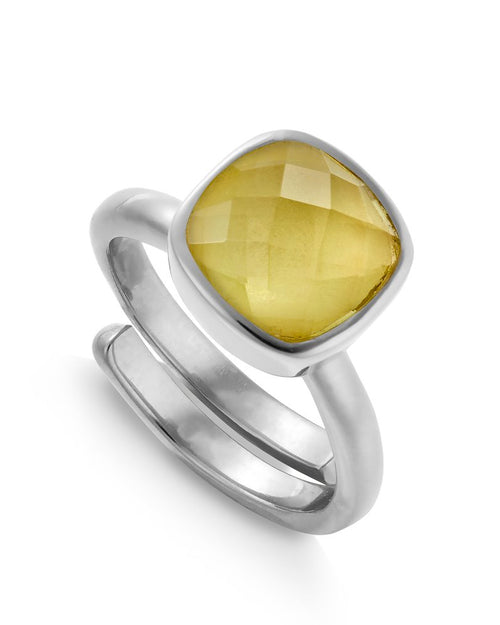 SVP lemon quartz ring is available to buy online from Damsel in Chiswick
