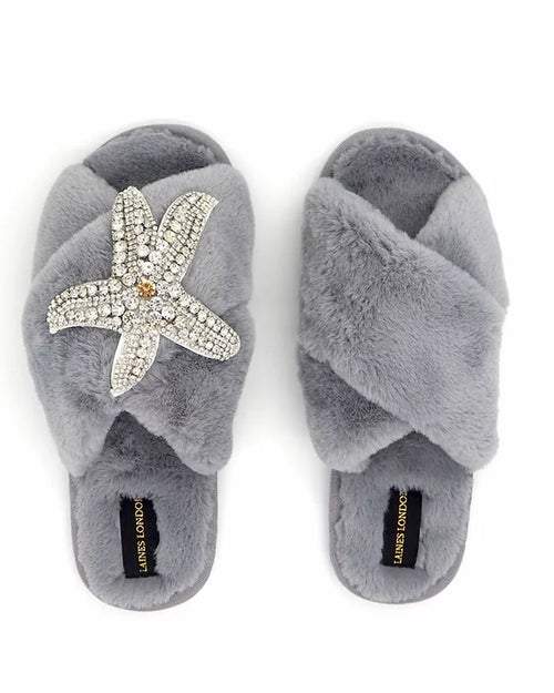 Laines London Slippers - Grey Starfish