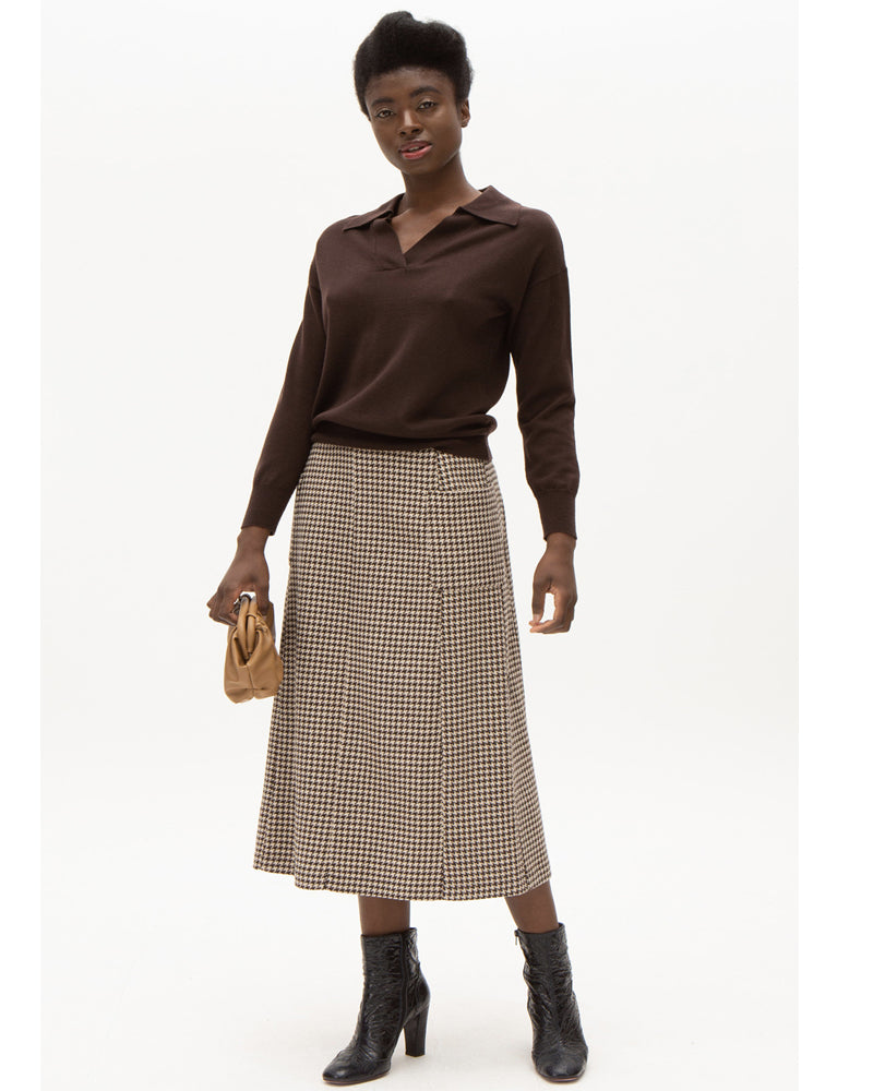 Nathalie vleeshouwer shanti skirt in check print are available to buy online from Damsel in Chiswick