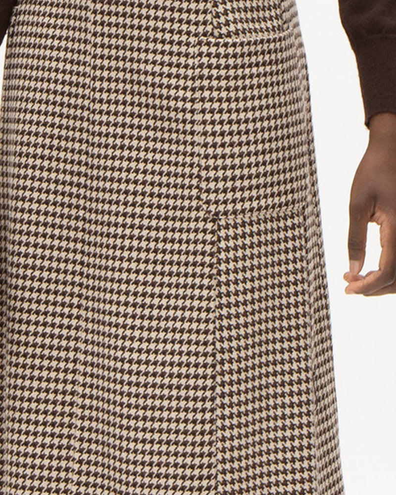 Nathalie vleeschouwer check a-line skirt is available to buy online from Damsel in Chiswick