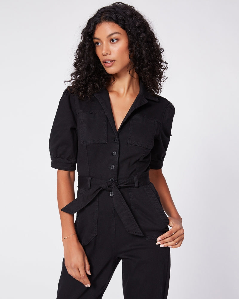 Paige black mayslie jumpsuit is available to buy online from Damsel in Chiswick