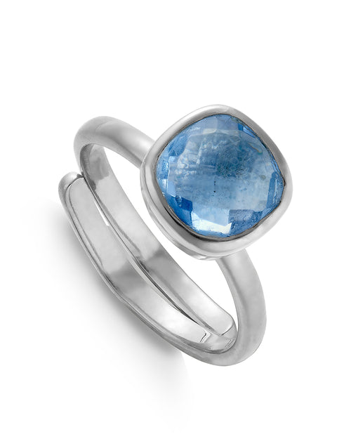 SVP iolite silver ring available to buy online from Damsel in Chiswick