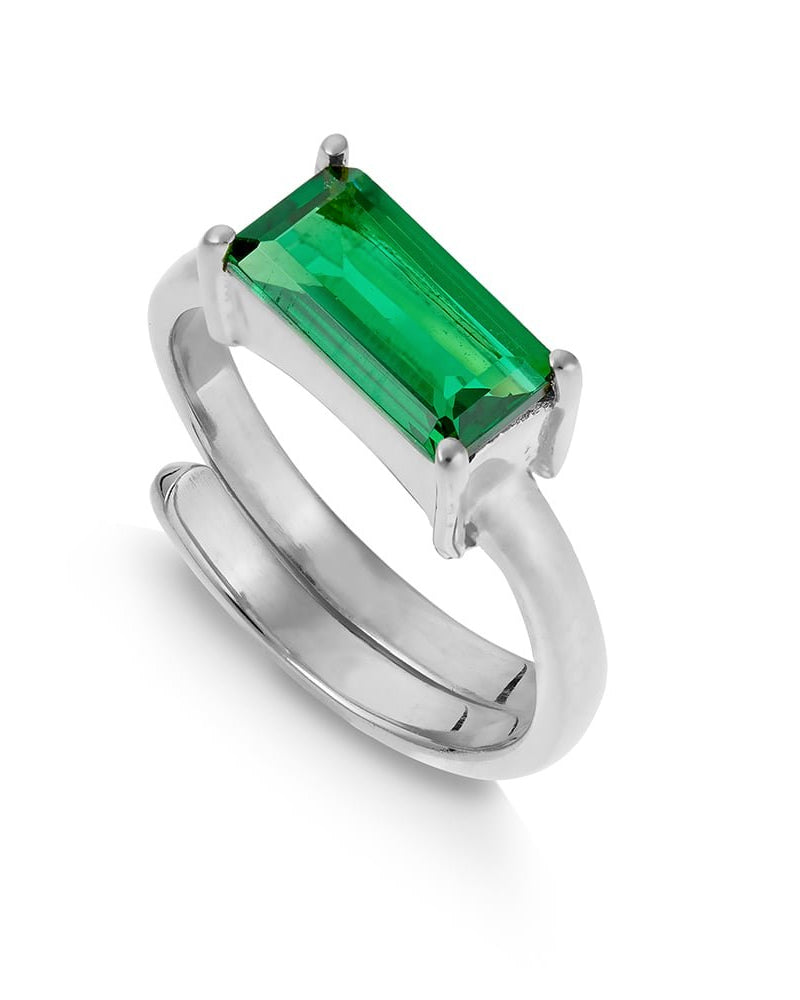 SVP nivarna ring in emerald quartz is available to buy online from Damsel in Chiswick