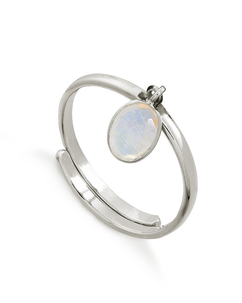 Second Female rio ring in rainbow moonstone from Damsel in Chiswick
