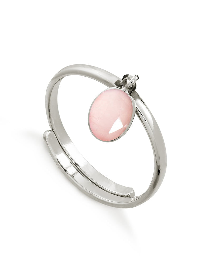 SVP rio ring in rose quartz is available to buy online from Damsel in Chiswick