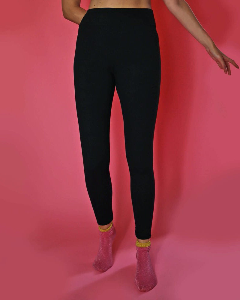 Universe of us black leggings are available to buy online from Damsel in Chiswick