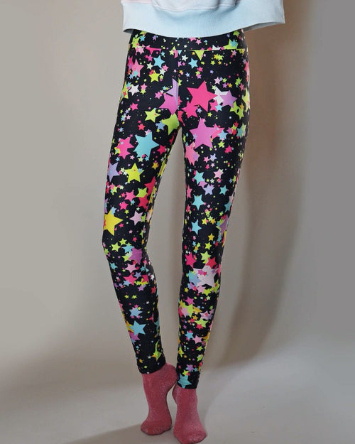 Universe of us rainbow star leggings are available to buy online from Damsel in Chiswick